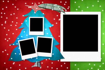 Christmas card four photo frames
