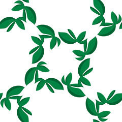 Isolated Leaves Pattern