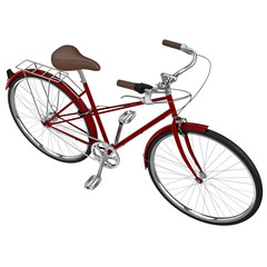 Vintage womens bike. 3D graphic