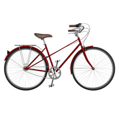 Side view of bicycle. 3D graphic