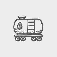 Gas and oil tank sketch icon