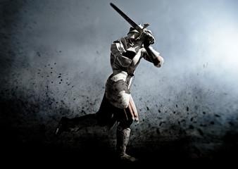 medieva warrior in the battle