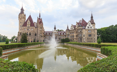 The Moszna Castle near Opole (Polish: Pałac w Mosznej, before 1945 German: Schloss Moschen). The castle in Moszna was the residence of a Silesian family Tiele-Winckler who were industrial magnates