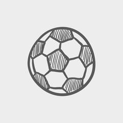 Soccer ball sketch icon