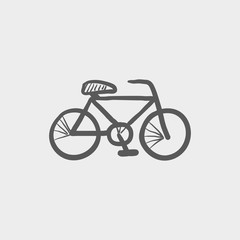 Bicycle sketch icon