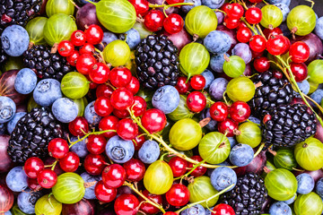 Mixed berries background.