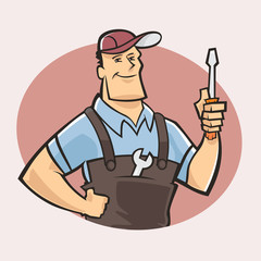Typical mechanic guy