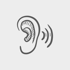 Ear sketch icon