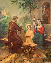 Typical catholic image printed image of Holy Family