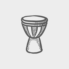 Timpani sketch icon