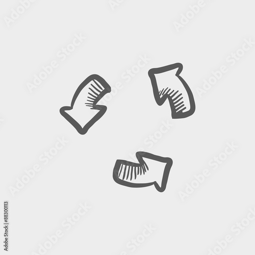 """Replay button sketch icon"" Stock image and royalty-free ..."