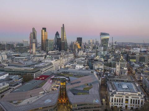City skyline from St. Pauls, London