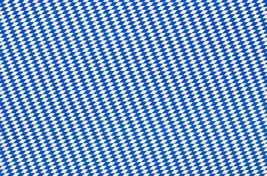 Stoff mit weiß blauem Rautenmuster