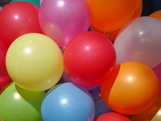Colorful Balloons Make a Happy Mood