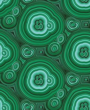 Malachite seamless pattern