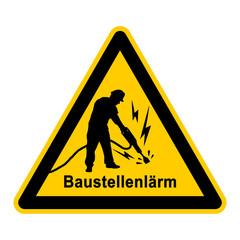 wso164 WarnSchildOrange - Baustellenlärm - Bauarbeiter mit Presslufthammer - g3766