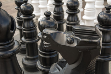 Chess on the marketplace in Olkusz (Poland)