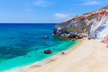 Paliochori beach, Milos island, Cyclades, Aegean, Greece