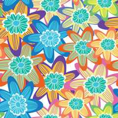 Floral cute seamless pattern.