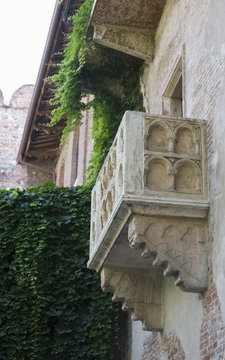 Juliet balcony in Casa di Giulietta, Verona