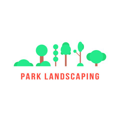 park landscaping with trees and bushes