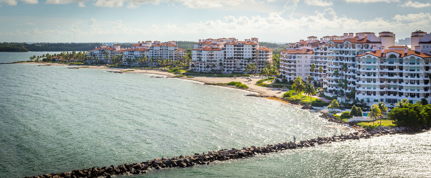 MIAMI, USA View of apartments in Fisher Island