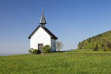 Kapelle Saalenberg chapel, Soelden, Markgraefler Land, Black Forest, Baden- Wurttemberg, Germany, Europe