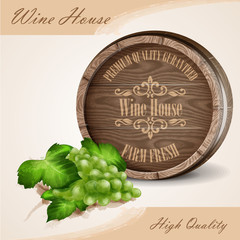 banner for wine house white