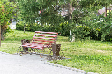 Bench in the park, relax after a hard day