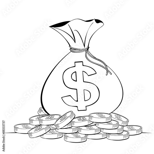 Line Art Money : Money bag sketch imgkid the image kid has it