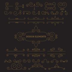 Vector illustration. Luxury linear design elements