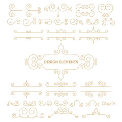 Vector illustration. Luxury linear design elements
