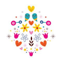 nature love harmony flowers illustration