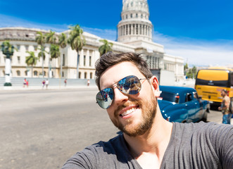 Selfie of a Tourist in Havana, Cuba
