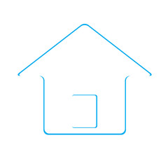 House Real Estate logo icon blue design