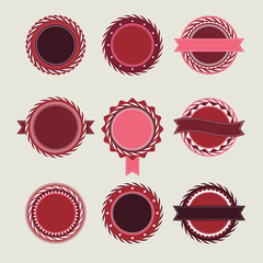 Wine vintage badges templates
