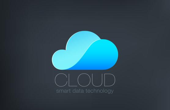 Cloud computing Logo design. Creative technology logotype