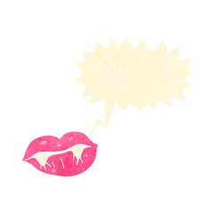 retro cartoon talking vampire lips