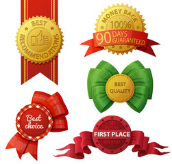 Set of badges and labels isolated on white background. Vector