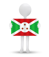 flag of Republic of Burundi