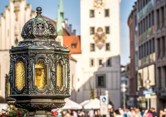 Laterne an der Mariensäule in München
