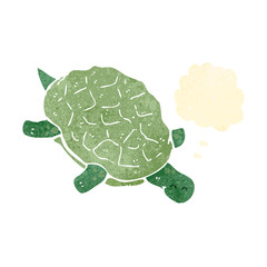retro cartoon turtle