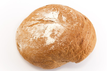 Rye bread isolated on white