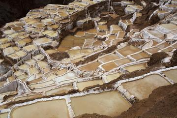 View over Salinas de Maras, Sacred Valley, Peru, South America