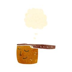 retro cartoon copper saucepan