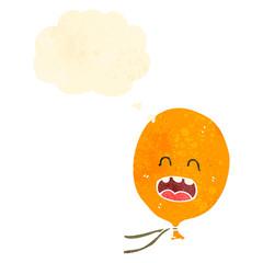 retro cartoon balloon with thought bubble