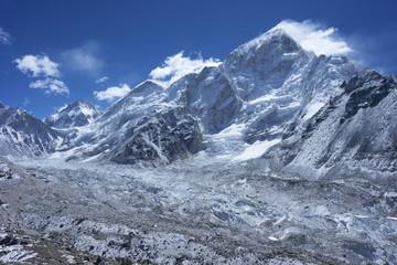 Khumbu glacier with Changtse, Everest and Nuptse, Sagarmatha National Park, UNESCO World Heritage Site, Solukhumbu District, Nepal, Himalayas, Asia