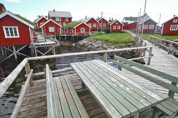 Traditional houses in Lofoten, Norway