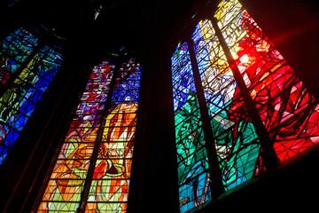 Buntglasfenster in der Kathedrale von Metz Wall mural