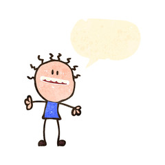 retro cartoon excited man with speech bubble